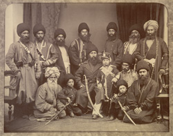 Group of the Amir Shere Ali, Prince Abdullah Jan, & Sirdars.